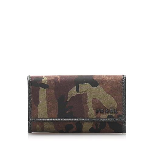 Prada Tessuto Camouflage Key Holder