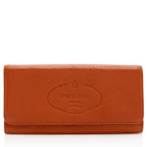 Prada Vitello Daino Logo Wallet
