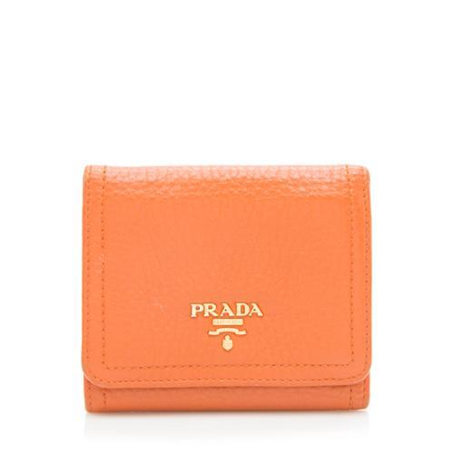 Prada Vitello Daino Trifold Wallet
