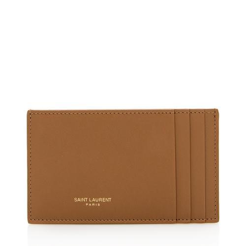 Saint Laurent Leather Card Case Insert