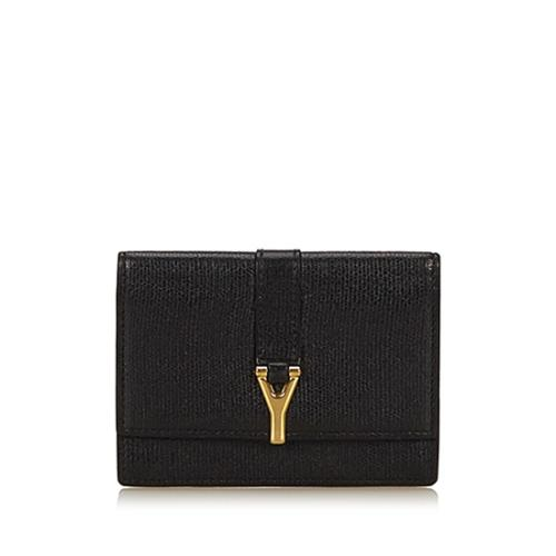 Saint Laurent Leather Chyc Card Case