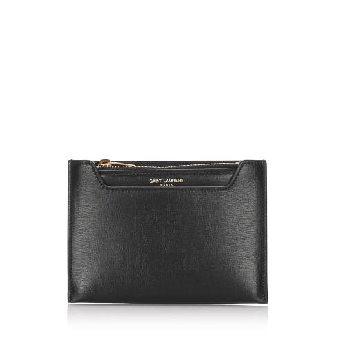 Saint Laurent Leather Coin Pouch