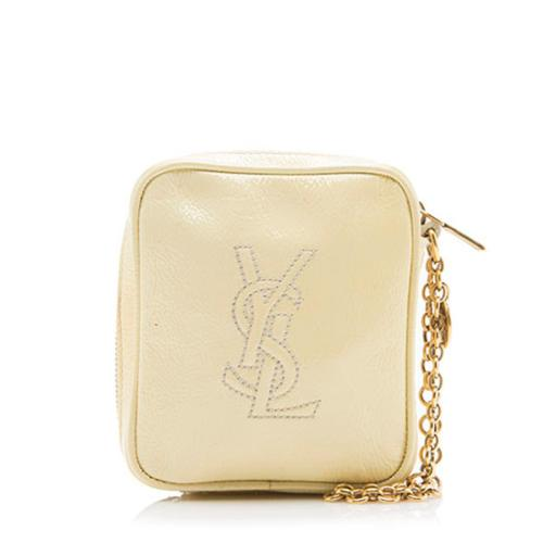 Saint Laurent Patent Leather Belle de Jour Wristlet