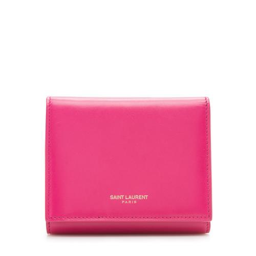 Saint Laurent Smooth Calfskin Tri-Fold Wallet