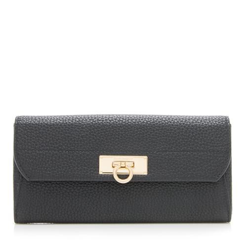 Salvatore Ferragamo Calfskin Continental Flap Wallet