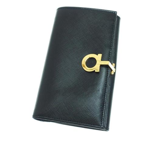 Salvatore Ferragamo Leather Gancini Long Wallet