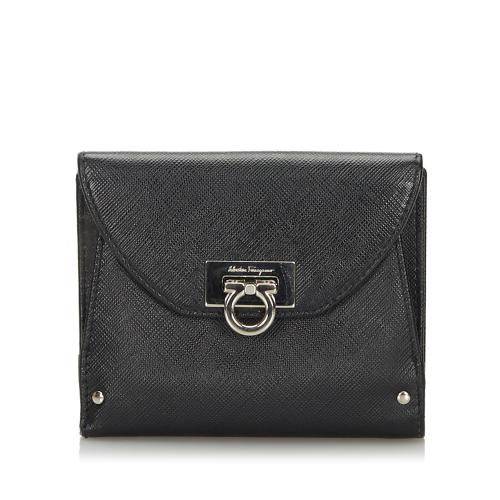 Salvatore Ferragamo Leather Gancini Small Wallet
