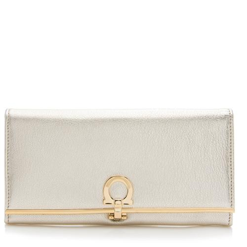 Salvatore-Ferragamo-Metallic-Leather -Continental-Wallet 91676 front large 0.jpg 9b132395e27fc
