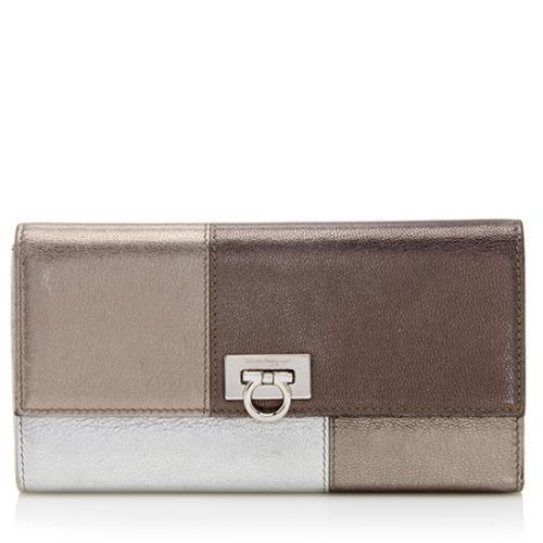 Salvatore Ferragamo Patchwork Continental Wallet
