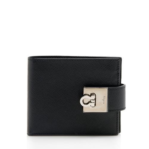 Salvatore Ferragamo Saffiano Compact Wallet