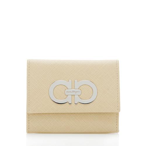 Salvatore Ferragamo Saffiano Leather Gancini Card Case