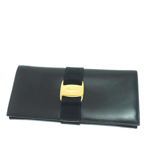 Salvatore Ferragamo Leather Vara Bifold Wallet