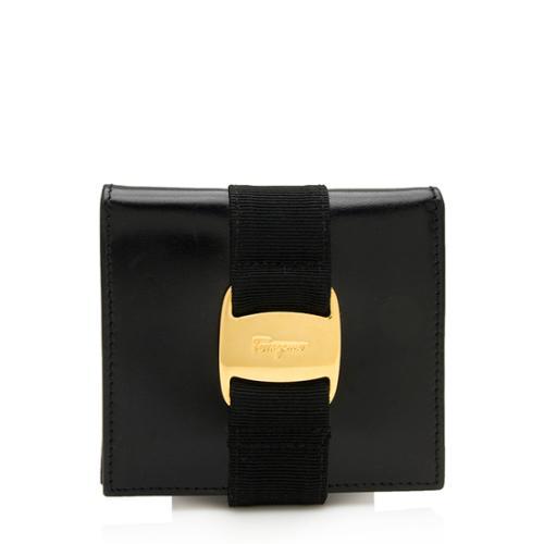 Salvatore Ferragamo Vintage Leather Ribbon Compact Wallet
