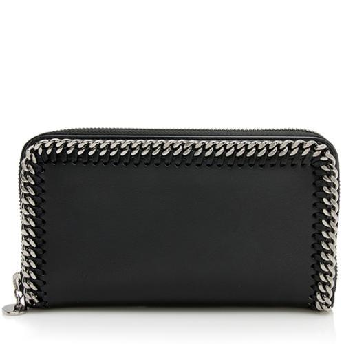 Stella McCartney Faux Leather Chain Zip Around Wallet
