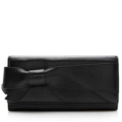 Valentino Leather Bow Wallet