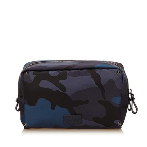 Valentino Nylon Camouflage Pouch
