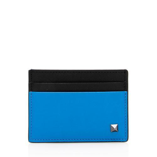 Valentino Rock Stud Leather Card Case