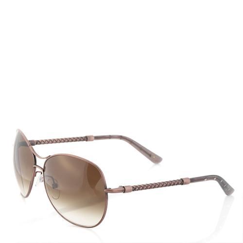 Bottega Veneta Matte Antique Brass Sunglasses