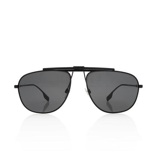 Burberry Aviator Brow Bar Pilot Sunglasses
