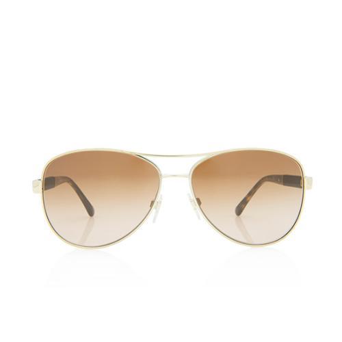 Burberry Aviator Check Sunglasses