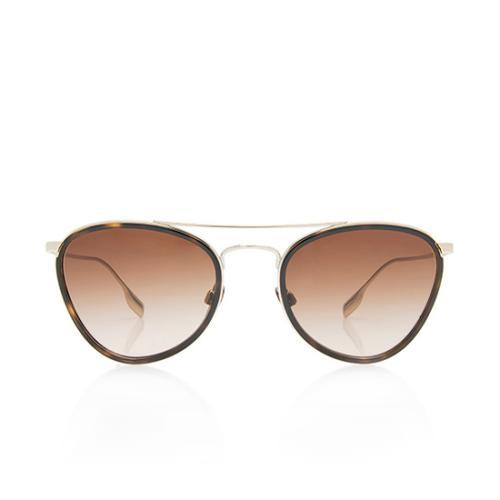 Burberry Brow Bar Aviator Sunglasses