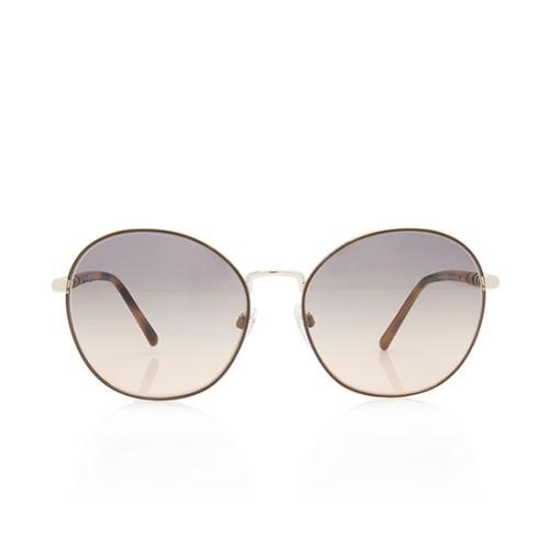 Burberry Check Round Sunglasses
