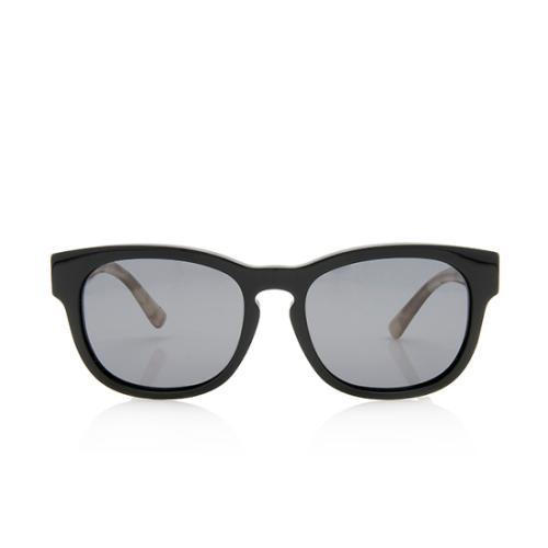 Burberry Polarized Check Wayfarer Sunglasses