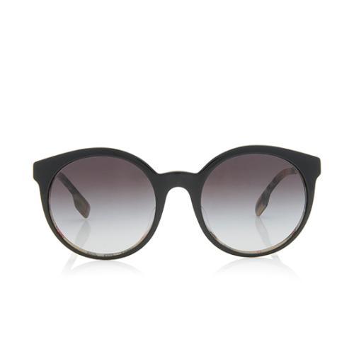 Burberry Round Check Sunglasses
