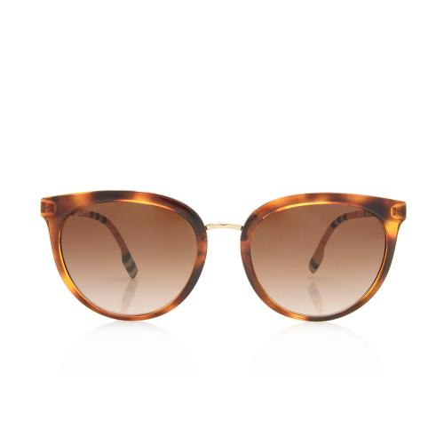 Burberry Round Check Willow Sunglasses