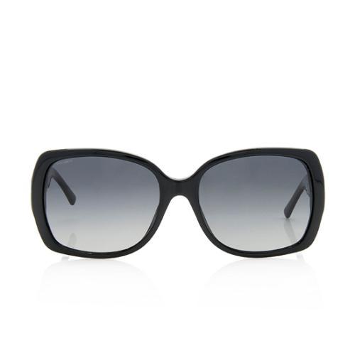 Burberry Square Polarized Check Sunglasses