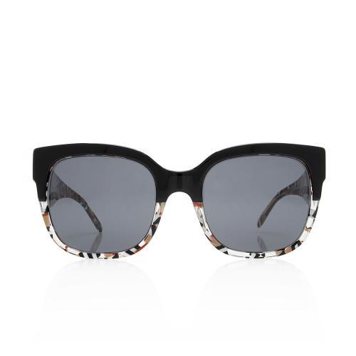 Burberry Square Two-Tone Logo Sunglasses