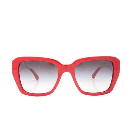 Chanel CC Clear Square Sunglasses