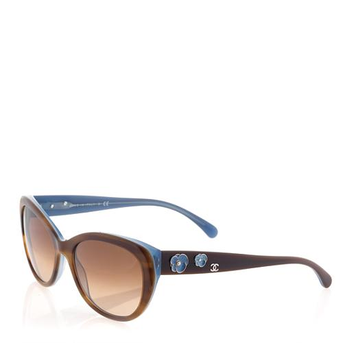 Chanel Cat Eye Camellia Sunglasses