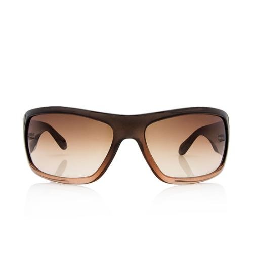 Chanel Crystal CC Logo Rectangular Sunglasses