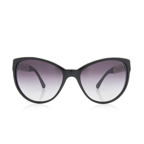 Chanel Leather Chain CC Butterfly Sunglasses