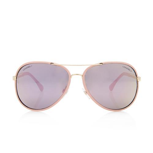 Chanel Pilot Winter Aviator Sunglasses