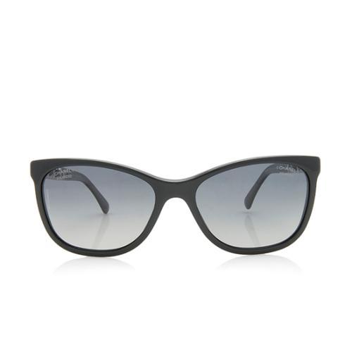Chanel Polarized Cat-Eye Chain CC Sunglasses
