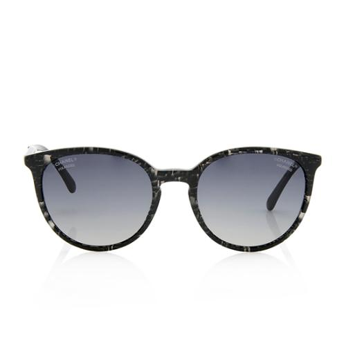 Chanel Polarized Glitter Butterfly Pearl Sunglasses