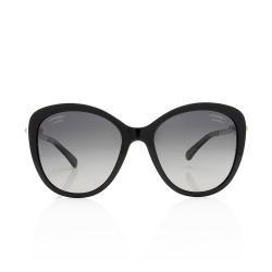 Chanel Polarized Oversized Pearl Sunglasses