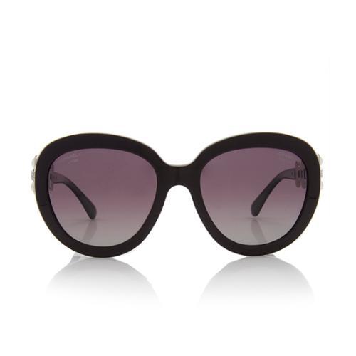 Chanel Polarized Pearl Bijou Oversized Sunglasses