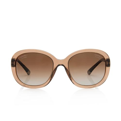 Chanel Polarized Quilted CC Sunglasses