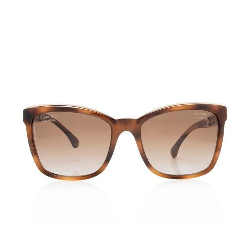Chanel Polarized Square Chain Link Sunglasses