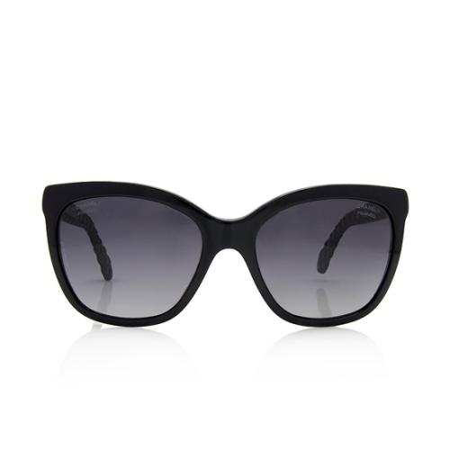 Chanel Quilted Goatskin Polarized Sunglasses