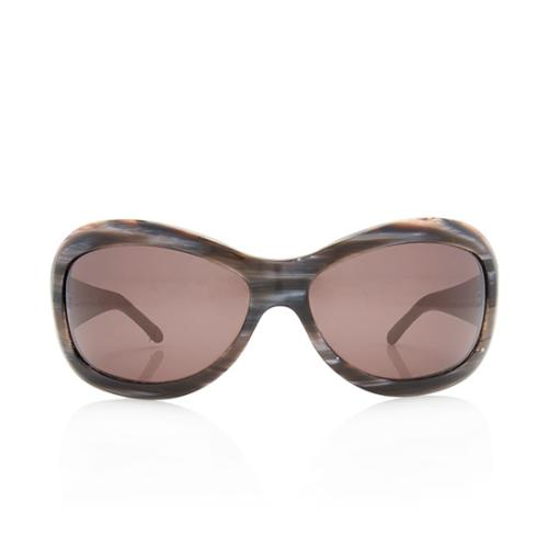 Chanel Quilted Lambskin Oval Sunglasses