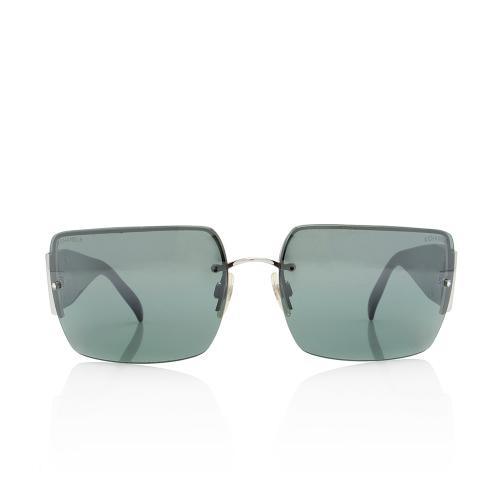 Chanel Rectangular Crystal CC Sunglasses