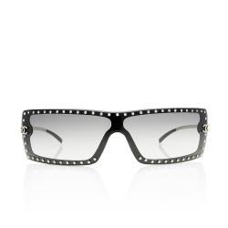 Chanel Rectangular Crystal Studded Sunglasses