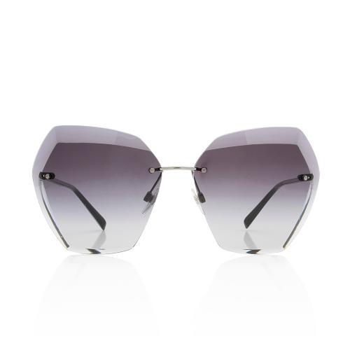 Chanel Rimless Hexagon Sunglasses