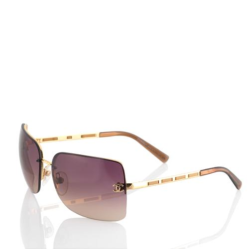 Chanel Rimless Rectangle Sunglasses