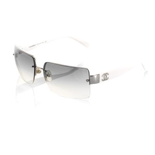 Chanel Rimless Rectangular Sunglasses