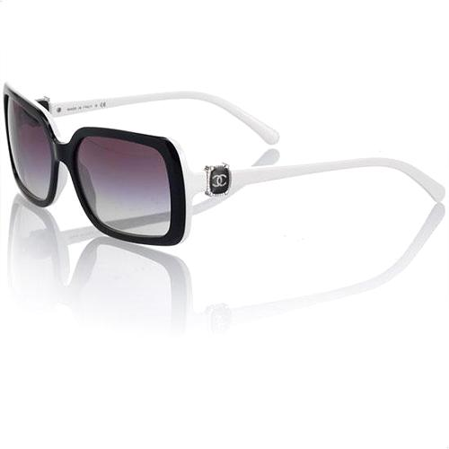 Chanel Square Black & White Sunglasses